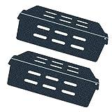 Denmay 7622 65505 - Deflectores de Calor para Weber Genesis 300 (con Botones de Control Frontal) E&S 310 320 330 de Rejilla de Acero Porcelana de Repuesto para difusor de Calor Weber, Juego de 2