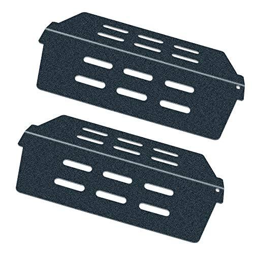 Denmay 7622 Flavorizer Bars Porzellan-emailliert Aromaschienen für Weber Gasgrill Genesis 300 Series E310 E320 E330 S310 S320 S330 Heat Deflector (mit Frontknöpfen) Brennerabdeckung Hitzeschild