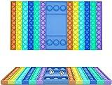 Yicare Fidget Toys Pop It Fidget Toy Big Bubble Popper Push Fidget Toy Rainbow Jeu d'échecs Jeu sensoriel Jumbo Big Size Dice Board Game (arc-en-ciel)