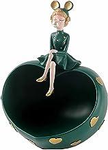 Peach Heart Bubble Girl Store Dekoration Resin Material Kreativ Heminredning Lämplig för ingång/vardagsrum/present green