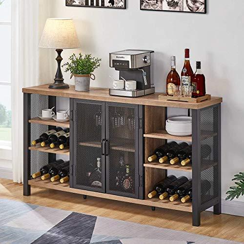 Industrial wine bar cabinet
