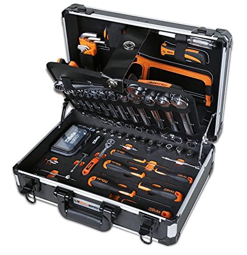Beta Tools Beta 2054E/I-100 Attrezzi, Valigia Porta Utensili, giraviti, combinate, Bussola, Set Chiavi esagonali, 100 Pezzi