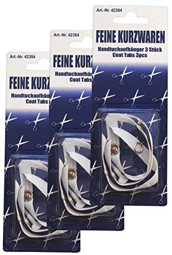 Preisjubel 18 Handtuchaufhänger Stoff ohne Nähen Aufhänger Handtücher Nähfrei Handtuchhalter