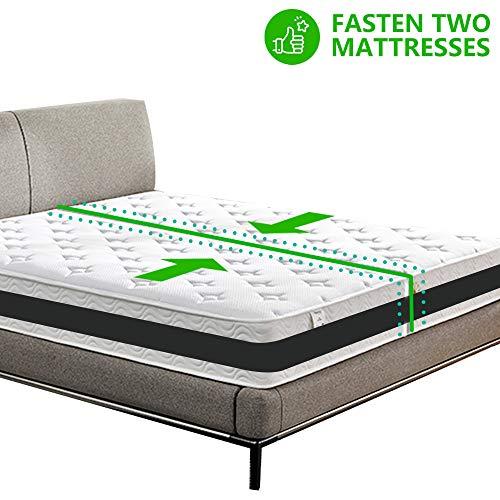 XSimFitnessx Matratzenhalter | Verbindet Zwei Matratzen zu Einer großen LiegeFläche | variabel einstellbar | Matratzen-Stopp | Halterung | Doppelbettbrücke | Bettbrücke | Matratzenkeil | liebesbrücke