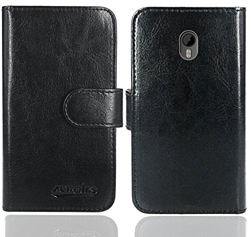 FoneExpert® Moto G3 Handy Tasche, Wallet Hülle Flip Cover Hüllen Etui Ledertasche Lederhülle Premium Schutzhülle für Motorola Moto G (3. Generation) (Wallet Schwarz)