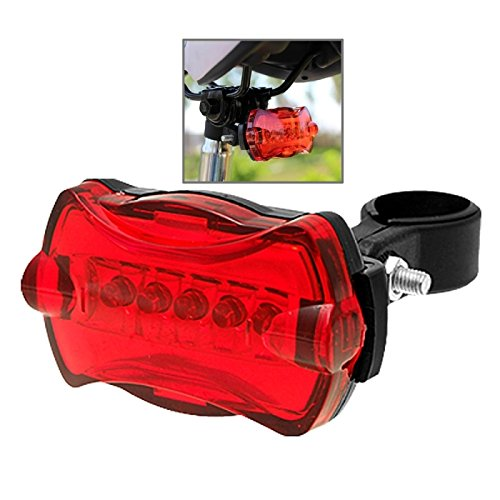 USB fietslamp 5 LED 7 modi fiets achterste veiligheids-flitslamp, fiets achterlichten