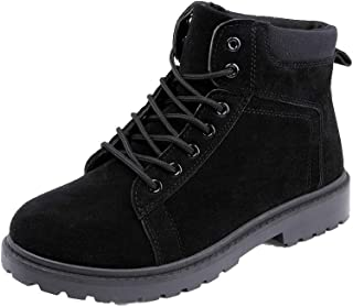 Yong Ding Men Suede Desert Boot Lace Up Leather Ankle Boots with Tread Grip Sole for Training Trekking Climbing