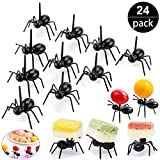 Ant Toothpicks Fruit Dessert Fork (24Pcs) – OOTSR Reusable Ant Food Pick Animal Appetizer Forks for Snack Cake Dessert with Storage Box for Kitchen Baby Shower Wedding Birthday Party