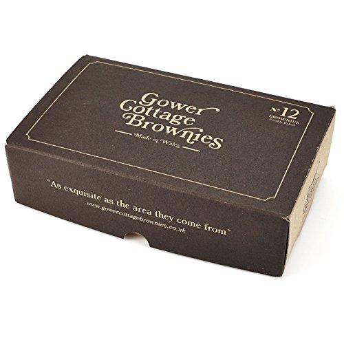 Original Gower Cottage Brownies - 12 Handmade Belgian Chocolate -...
