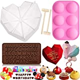 Diamond Heart Silicone Mold, Thickening 3D Large...