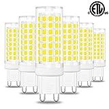 Hansang G9 Led Light Bulb,6W Chandelier Light Bulbs (60W Halogen Equivalent),88PCS LED,6000K Daylight White,Non-dimmable,G9 Bi Pin Base,360 Degrees Beam Angle,600LM,Pack of 6