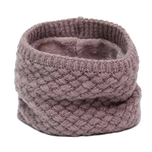 BESTOYARD Collo Sciarpa Donna inverno maglia Cercio Crochet sciarpa scialle copricollo scaldacollo (Cachi)