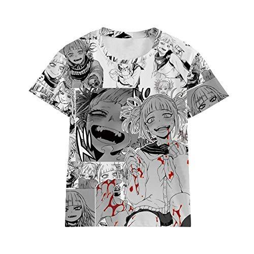 Factory Outlet My Hero Academia Ich kreuzte den Körper Cartoon Animation um Sommerwind Druck Kurzarm-T-Shirt,Ich Kreuzung T1,XL
