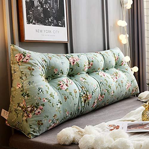 CYWSHA Bett Kissen,Single Double Triangle Big Sofa Back Pillow Kissen-Kissen Rücktaille Kissen Weiche Kissen Lesen-s 90x25x50cm(35x10x20inch)