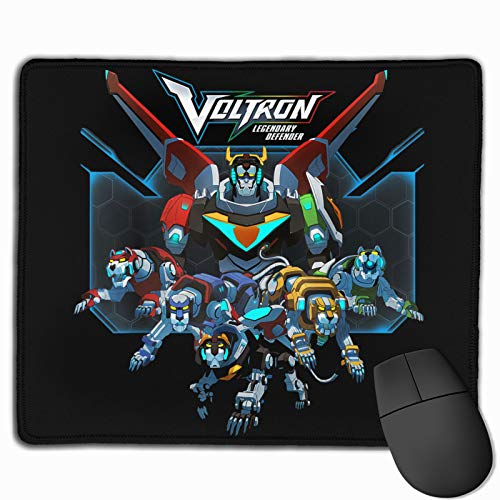 Fxivomewe Voltron Mouse Pad Mat Non-Slip Game Mousepad Waterproof Rubber Base Mousepad for Laptop Compute Office Table Mat