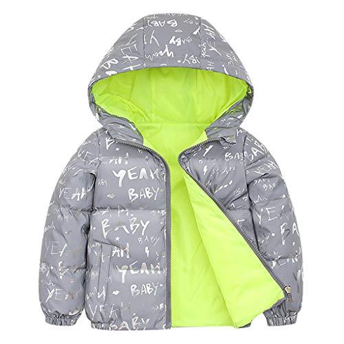 Syliababy Kinder Winterjacke mit Kapuze, Jungen Mädchen Wintermantel Schneeanzug...
