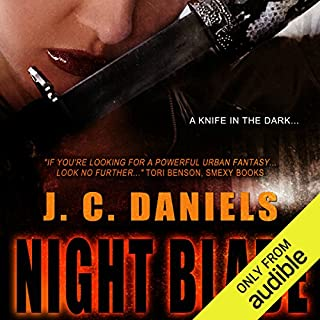 Night Blade                   By:                                                                                                                                 J. C. Daniels                               Narrated by:                                                                                                                                 Maxine Mitchell                      Length: 9 hrs and 30 mins     51 ratings     Overall 4.6