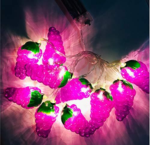 Trauben Lichterkette LED Frucht Licht Batterielaterne Party Raumdekoration Weihnachtstag Dekoration 3m20 Licht