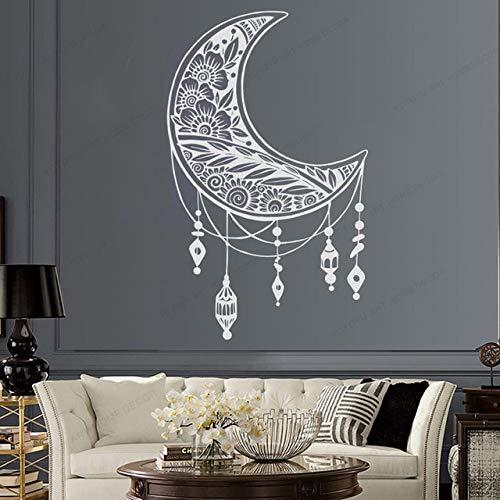 Mond Wandaufkleber Moderne Mond Mandala Wandaufkleber Mobile Wandkunst Wandbild Familien Schlafzimmer Dekoration A6 57x93cm