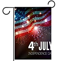 庭の装飾の屋外の印の庭の旗の飾り7月4日の独立記念日 テラスの鉢植えのデッキのため