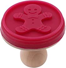 Biscuit Stamps Silicone Cookie DIY Mold Stamp with Wooden Handle Embossing Sugar Craft Tool Kitchen Supplies Red gingerbre...