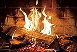 Pared de ladrillo Chimenea Madera Fuego Llama ardiente fotografía telón de Fondo Retrato Foto Fondo Estudio fotográfico sesión fotográfica A3 10x10ft / 3x3m