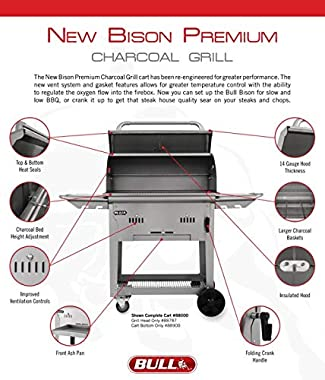 Bull Outdoor Products 88787 Bison Charcoal Grill Head, Stainless Steel