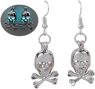 Skull Luminous Dangle Earrings Personalized Gost Head Bone Drop Earrings for Women Girls Fashion Halloween Jewelry Gifts
