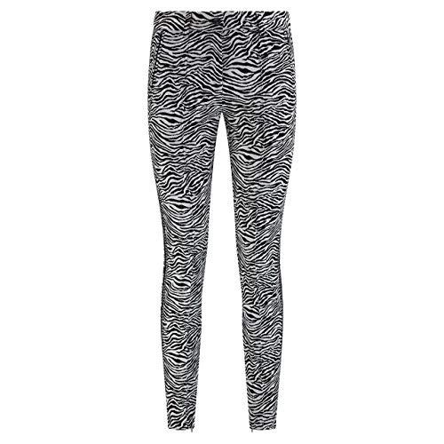 Cambio Slim-Fit Hose 'Rhona' mit Zebra-Musterung Camel (911 Zebra Jacquard b) 38 | 30