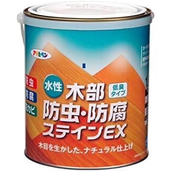 アサヒペン 水性木部防虫・防腐ステインEX 1.6L 透明(クリヤ)