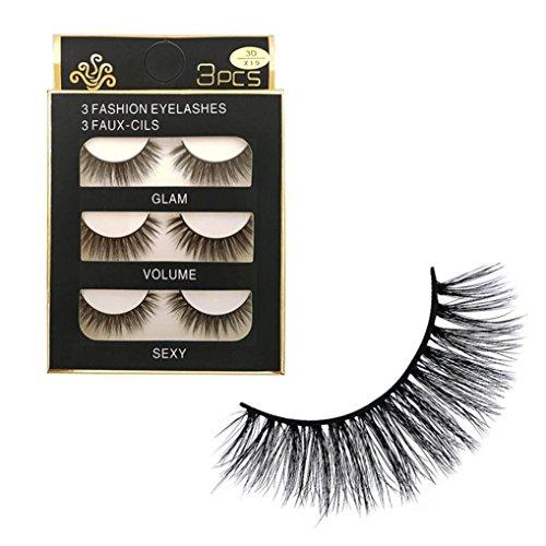 IGEMY Reales 3D Weiches langes natürliches Augen-Lidschatten-Make-up, starke falsche...