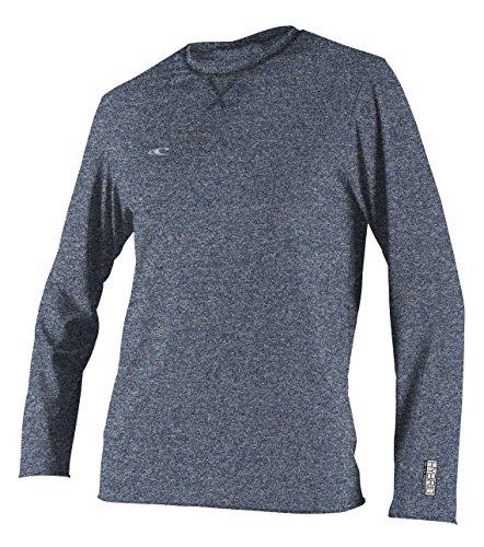 O'Neill Wetsuits Men's Basic Skins UPF 50+ Long Sleeve Sun Shirt, Hybrid Navy, Medium