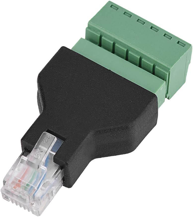 Shipenophy Connector Adapter Crystal RJ12 Sales Plug Ad 55% OFF Terminal Screw