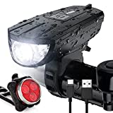 Vont 'Breeze' Rechargeable Bike Light Set, Bicycle Light, Instant Install Without Tools,...
