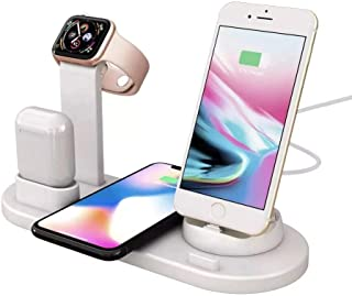 Wireless Charger, 6 in 1 Wireless Charging Station for Apple Watch and iPhone Airpods, Wireless Charging Stand Compatible for Apple iPhone X/XS/XR/Xs Max/8/8 Plus Apple Watch Series 4 3 2 1 Airpods