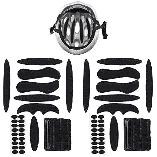 Helmpolster-Set, Helmpolster Fahrradhelm, Universal Fahrradhelm Pads Helm Innenpolster Zubehör Fahrrad, Motorradhelm, 2 Sets (Schwarz)