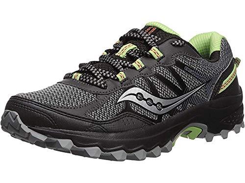 Saucony Women's Excursion TR11 Running Shoe, Black/Lime, 8.5 Medium US