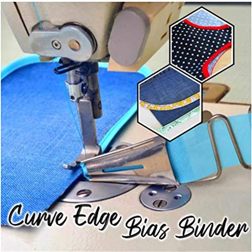 Fabric Bias Binding Maker with Binder Foot Bradawl Quilting Clips Sewing Pins Kit for DIY Patchwork Baywell Bias Tape Maker Set Arts and Crafts