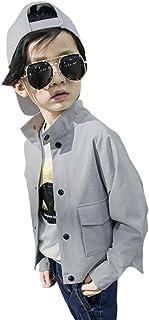 [FERE8890] 男の子 コート カジュアル キッズ ジャケット 可愛い トップス 五色縞 プリント 立ち襟 ドルマンスリーブ シンプル