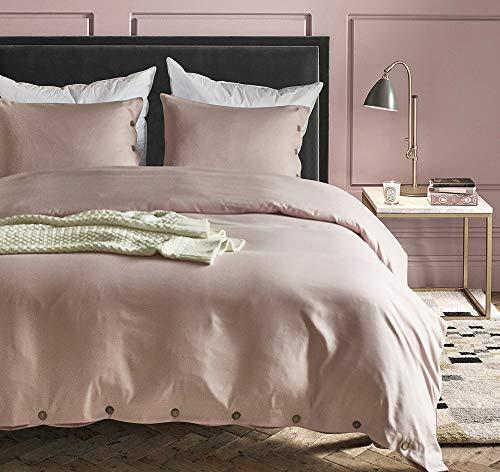 Cupocupa FS-135200 - Juego de cama (135 x 200 cm, 100% microfibra cepillada, calidad de 110 g/m², funda de almohada de 80 x 80 cm), color negro