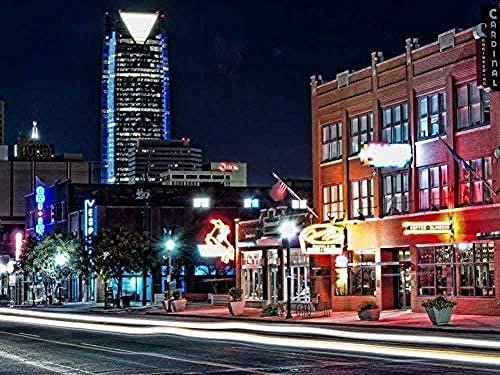 ChuYuszb puzzle 1000 stukjes papier puzzel Downtown Tulsa Oklahoma na sluitingstijd Hdr puzzelspel voor volwassenen en tieners