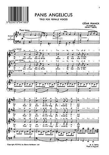 Cesar Franck: Panis Angelicus (SSA). Für SSA (Frauenchor), Klavierbegleitung, Orgelbegleitung