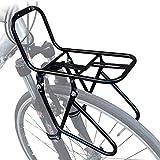 CARACHOME Portaequipajes Delantero Pannier 15KG Capacidad Rack Bicicleta de Alta Resistencia Rack Delantero 2 Métodos de instalación con Dispositivo de fijación