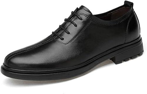 Cuir verni élégant élégant confortable pour hommes d'affaires Oxford Décontracté Soft Light GentleHommes Atyle Chaussures à bout rond et à bout rond Chaussures habillées ( Couleur   Noir , Taille   43 EU )  marques de créateurs bon marché