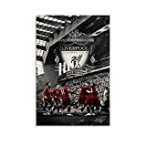 Liverpool FC Leinwand-Kunst-Poster zum Aufhängen, gerahmt,