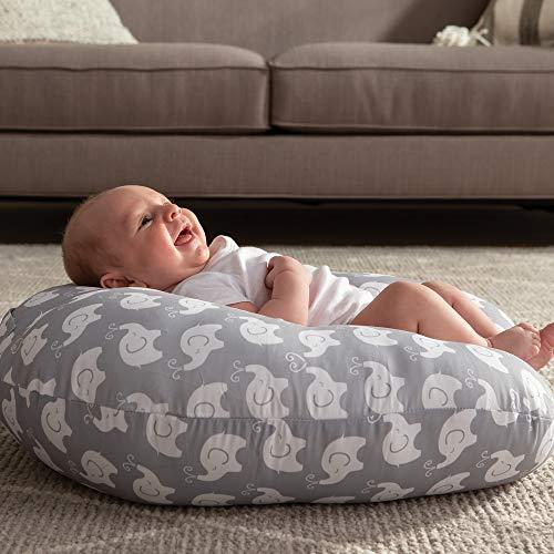 Boppy Original Newborn Lounger, Elephant Love Gray