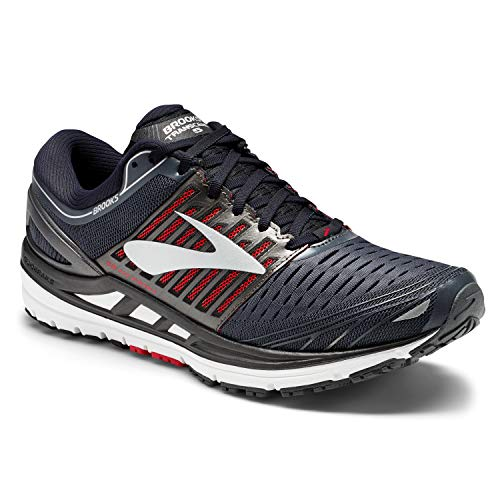 Brooks Men's Transcend 5 Road Running Shoes Ebony/Black/Red - 11D