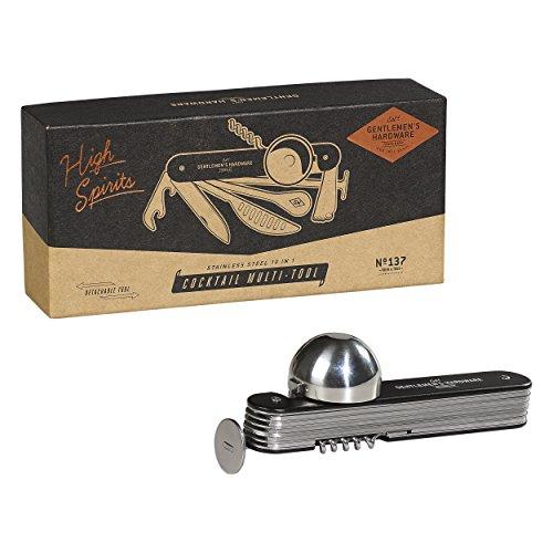 Gentlemen's Hardware GEN137 10-in-1 Edelstahl abnehmbare Cocktailbar Multi-Tool