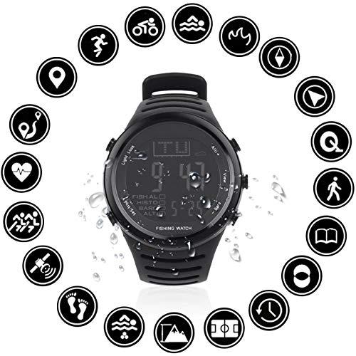 Schwarze Wettervorhersage, historische Multifunktions-Armbanduhr, robuste Sportuhr, Luftdruck-Uhr zum Angeln