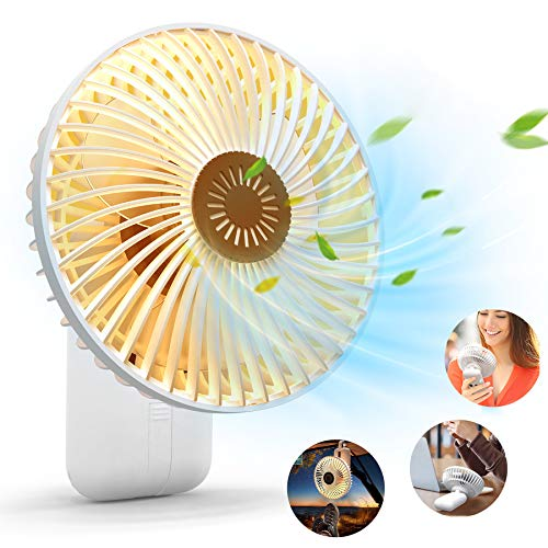 KOXXBASS Portable Fan 7-inch 10000mAh Desk Fan USB Camping Fan Rechargeable Battery Operated Handheld Fan with Camping Lantern and Hanging Hook